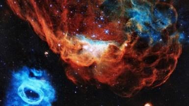 Las nebulosas NGC 2020 y NGC 2014, captadas por Hubble. NASA's Goddard Space Flight Center