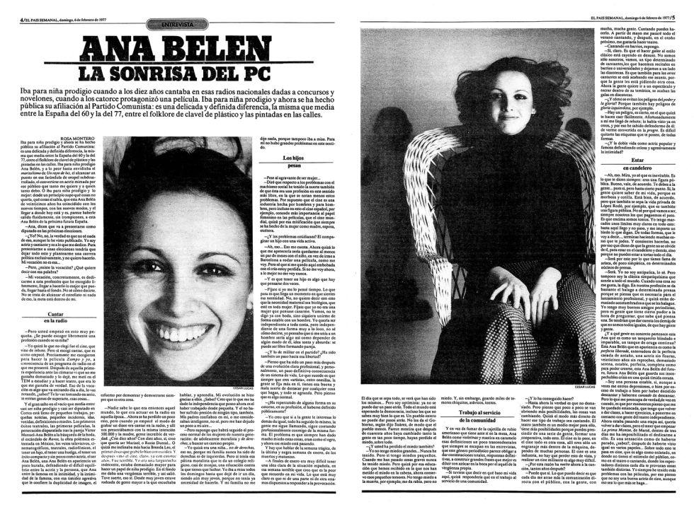 entrevista el país Ana Belen