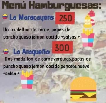 menu hamburguesas
