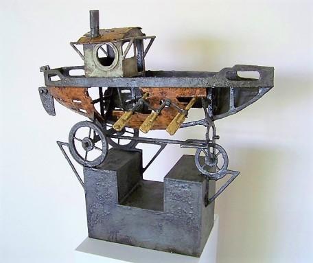RESINA El Escorial. Resina poliéster, cartón y mdf policromado. 42x19x43 cm (1)
