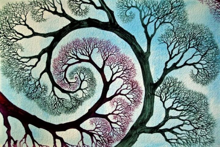 Spiral In, Spiral Out_Helen Klebesadel_acuarela